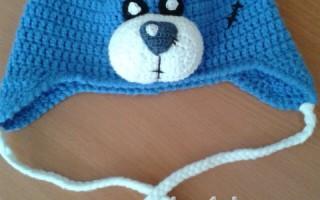 Мастер-класс по шапке Тедди крючком с понятными схемами
