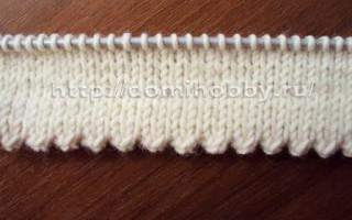 Схема зубчатого края спицами для новичков в рукоделии