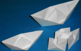 Кораблик оригами из бумаги для начинающих