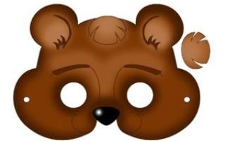Маска медведя своими руками из доступных материалов