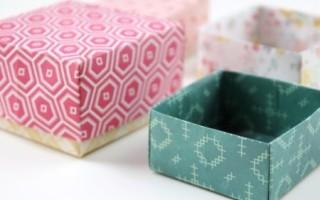 Оригами коробочка из бумаги своими руками