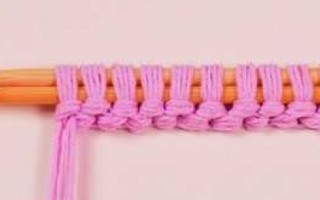 Крестообразный набор петель спицами для начинающих
