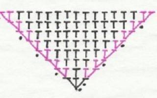 Треугольник крючком со схемой