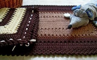 Вязание ковров из шнура крючком