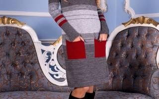 Зимнее вязаное платье для уютных и теплых вечеров