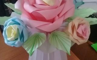 Как сделать розу в технике оригами