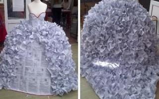 Платье из газет своими руками
