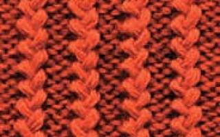 Виды вязания резинки спицами со схемами