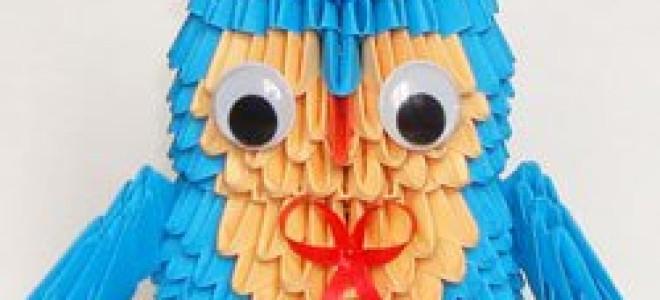 Мудрая сова модульное оригами