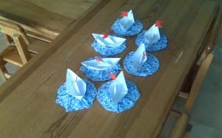 Схемы бумажных корабликов