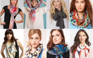 Как завязать шарф на шее