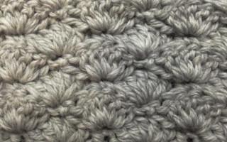 Схема ракушки крючком для быстрого и качественного вязания