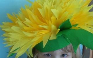 Шапочка цветок из бумаги