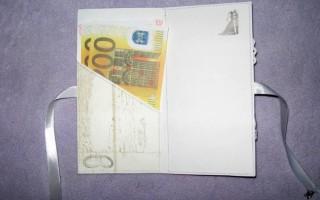 Конверт для денег в технике скрапбукинг