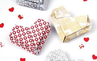 Сердце оригами из бумаги
