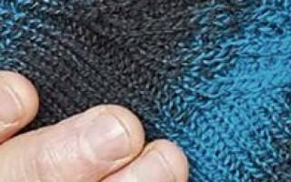 Перчатки мужские вязаные
