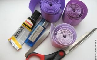 Пояс для платья своими руками из ткани в технике канзаши