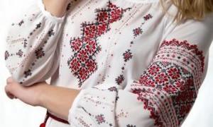 Схемы вышивки на одежде своими руками