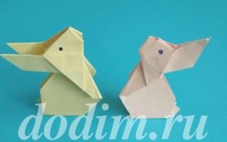 Заяц оригами