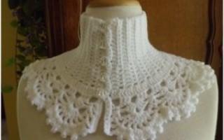 Вязание спицами манишки