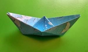 Как сделать кораблик в технике оригами
