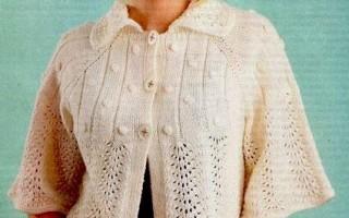 Женские жакеты спицами с элегантными штрихами