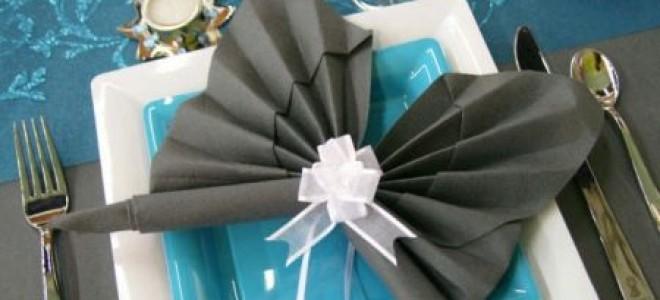 Схемы оригами из салфеток