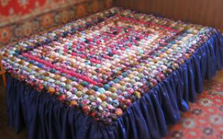 Мастер-класс по одеялу бомбонами из натуральных материалов