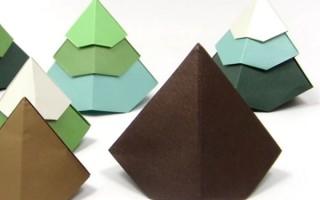 Геометрические фигуры из бумаги оригами