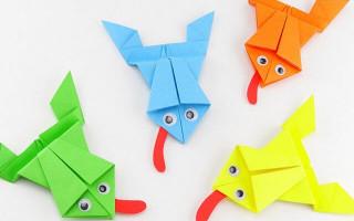 Как сделать лягушку в технике оригами